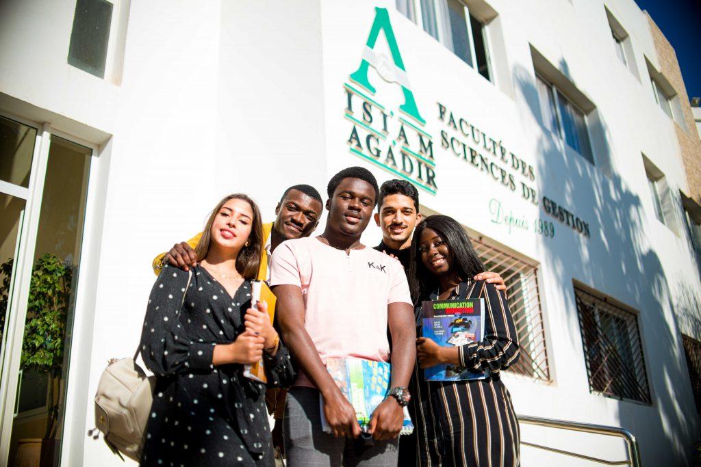 étudiants en master à l'ISIAM-Agadir , Universiapolis .